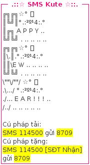 sms kute tet 2014